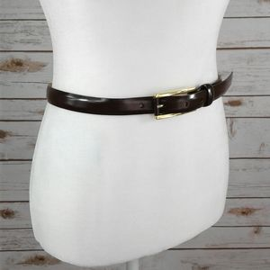 """Cole Haan Chocolate Brown Leather Belt 28"""""""